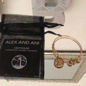 Alex and Ani Lighthouse charm bracelet